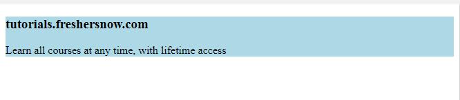 HTML div tag