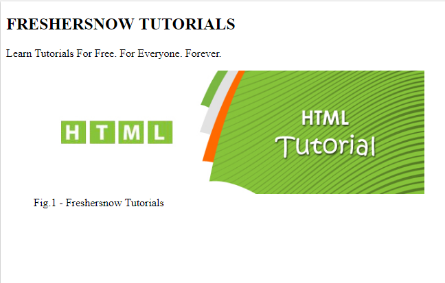 HTML figcaption tag