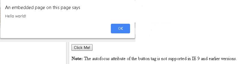 HTML autofocus attribute