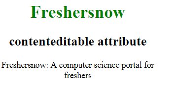 HTML contenteditable attribute