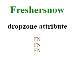 HTML dropzone attribute
