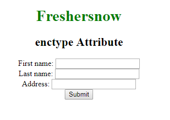 HTML enctype attribute