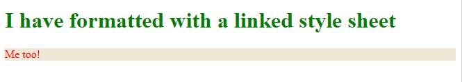 HTML link element