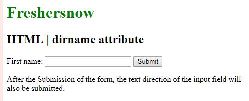 HTML dirname attribute
