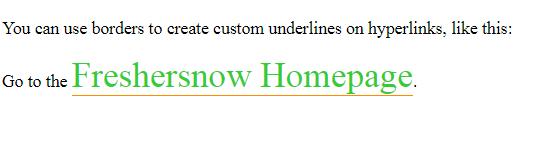 HTML bottom border