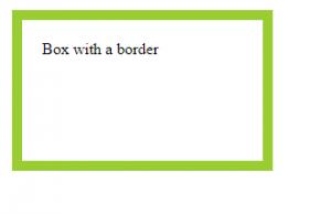 HTML border attribute