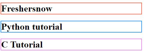 HTML color attribute
