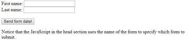 HTML name attribute form element