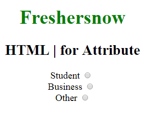HTML label attribute