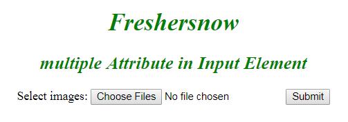 HTML input element