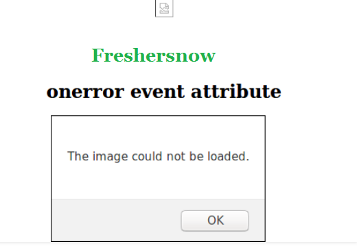 HTML onerror attribute