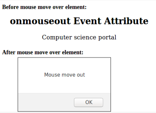 HTML onmouseout attribute