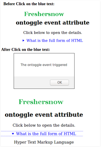 HTML ontoggle attribute