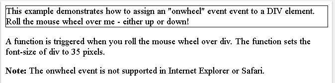 HTML onwheel attribute