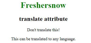 HTML translate attribute