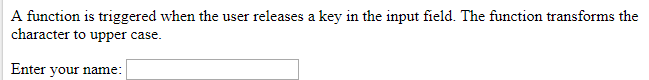 HTML onkeyup attribute