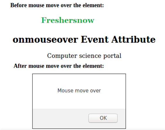 HTML onmouseover attribute