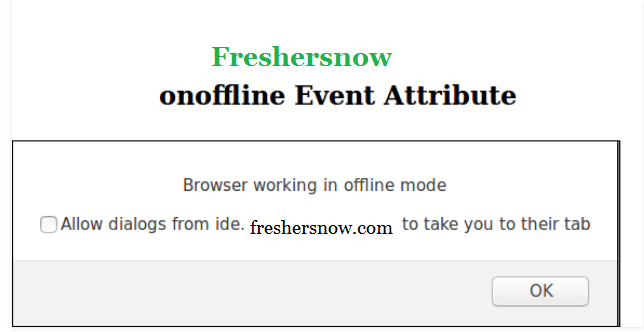 HTML onoffline attribute