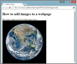 Adding images to HTML 5 Example