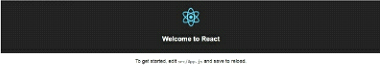 react js welcome page