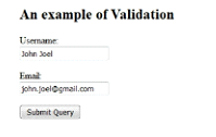Angular JS Validation Example Output