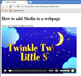 Embedding HTML5 Video Example Output