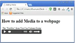 Embedding HTML5 Audio Example Output