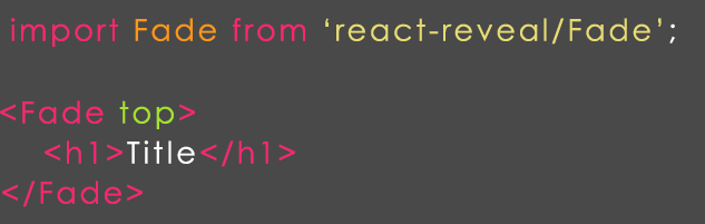 react jreveal example