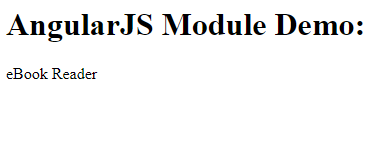 Angular JS Module with Controller Example Output