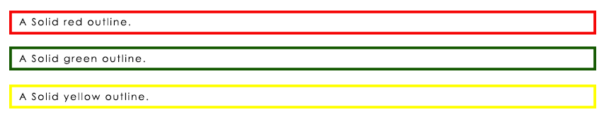 CSS Outline Color Example Output