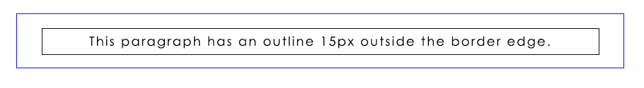CSS Outline Offset Example Output