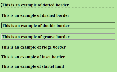 css border style example output