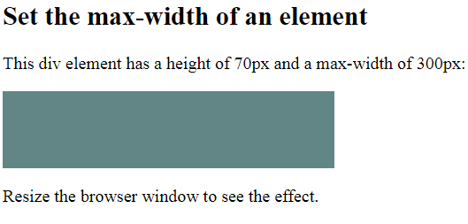 Max-Width Example Example Output