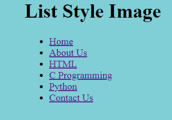 list Styling image example output