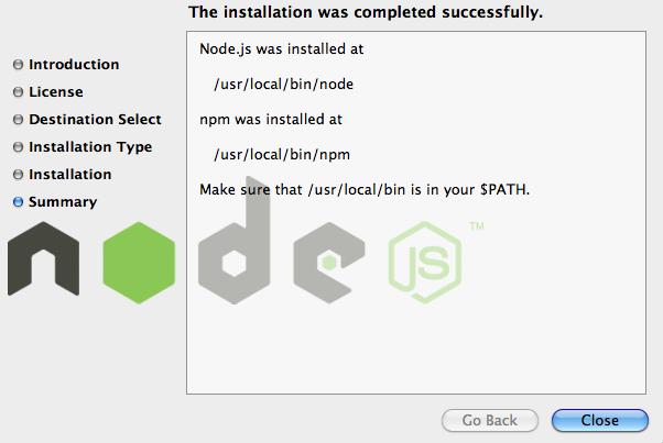 nodejs installation