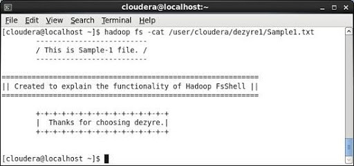 Hadoop cat Command
