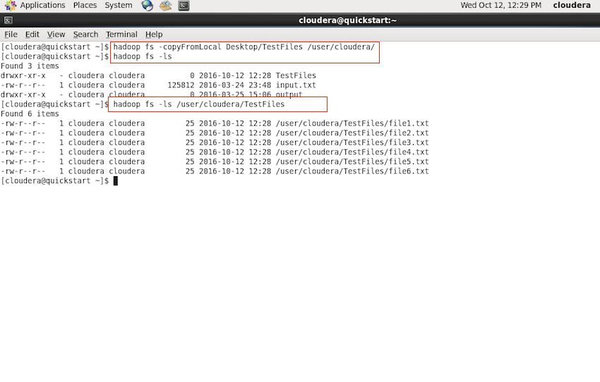 Hadoop - copyFromLocal Command