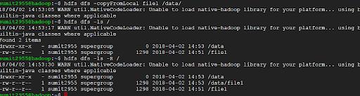 Hadoop - copyFromLocal Command2