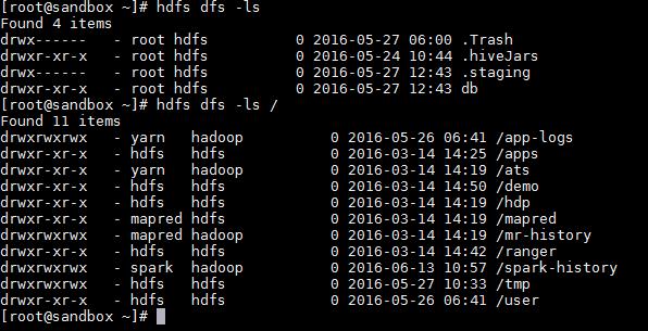 Hadoop ls command